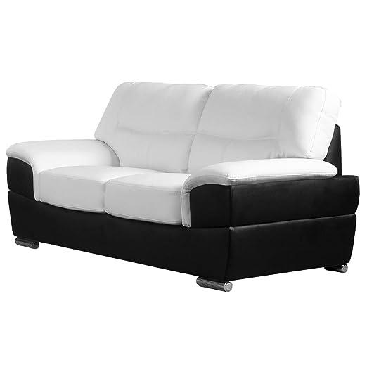 Liverpool negro de dos tonos y sofás de cuero blanco (todas ...