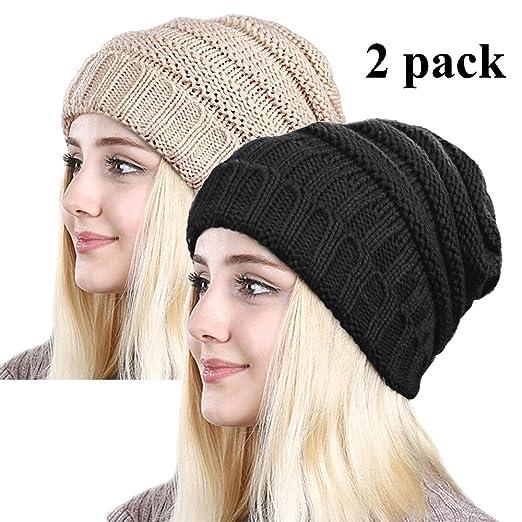 2912ab97d5d ZOORON Women Warm Slouchy Beanie Hats