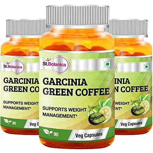 StBotanica Garcinia Green Coffee 500mg Extract – 90 Veg Caps – 3 Bottles