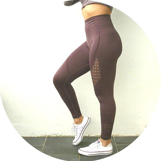 b7b4905a4c Blue-shore Women Seamless Yoga Pants Super Stretchy Gym Tights High Waist  Sport Leggings Running
