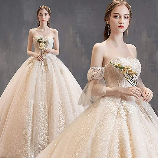 Long Formal Wedding Dresses Bridal Dress Tube Top Ball Gown At