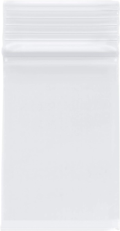Plymor Heavy Duty Plastic Reclosable Zipper Bags, 4 Mil, 2