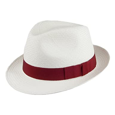 1f61e5d154a13 Christys Hats Witney Panama Trilby - Bleached With Wine Band 62 ...