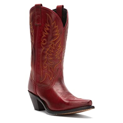 Laredo Madison Ladies Dark Red Leather Boots 9.5 W