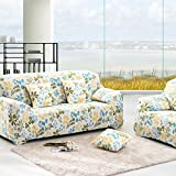 RUGAI-UE Sofa Slipcover sofa full cover sofa cover full sofa cushion sofa cloth covers four non slip,Three seater 190-230cm,Hawaii blue green