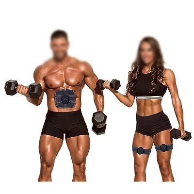 ZIME Toner abdominal de muscle, équipement de formation final d'ABS, système musculaire électronique pour l'abdomen / bras / jambe - équipement idéal d'exercice de maison / bureau, brû