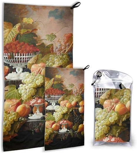 LONGYUU Abundancia de Fruta Severin Roesen Oil Canvas 2 Pack ...