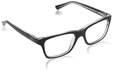 d03a2c4f2d Image Unavailable. Image not available for. Color  Ray Ban Junior RY1536  Eyeglasses-3529 Top Black On Transparent-48mm