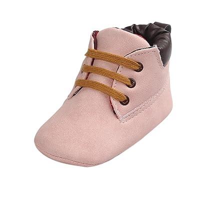 c0a2f01dca277 LuckyGirls Chaussures Fond Souple Antidérapant de Bébé Unisexe Bébé Suède  Chaussons en