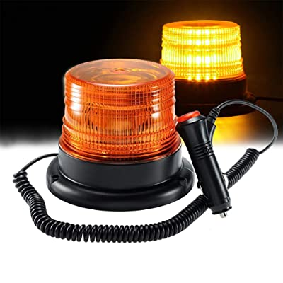 Amber LED Strobe Light,LED Emergency Vehicle Magnetic Mount Warning Strobe and Rotating Flashing Light Beacon Pattern for Cars and Trucks (30 LED): Automotive [5Bkhe1010565]