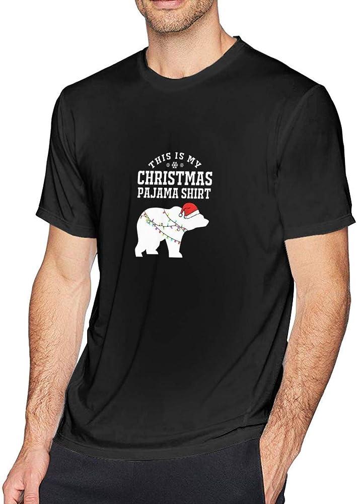 Esta es mi Camisa de Pijama de Navidad Oso para Hombre Novedad Manga Corta Camiseta de Navidad, S: Amazon.es: Ropa y accesorios