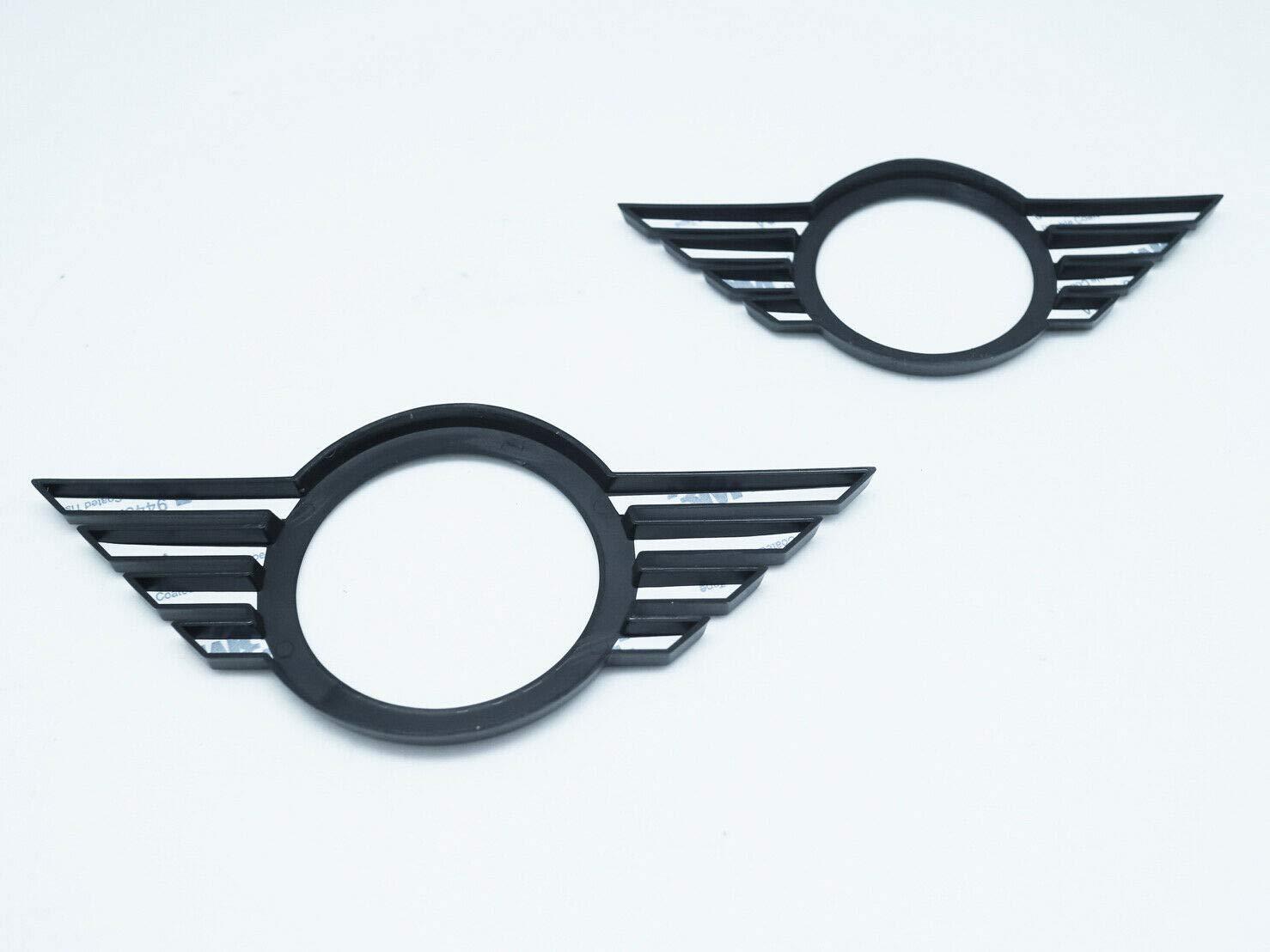 Emblema Negro Brillante para Parte Delantera y Trasera para Mini Cooper F55 F56 F57 LCI