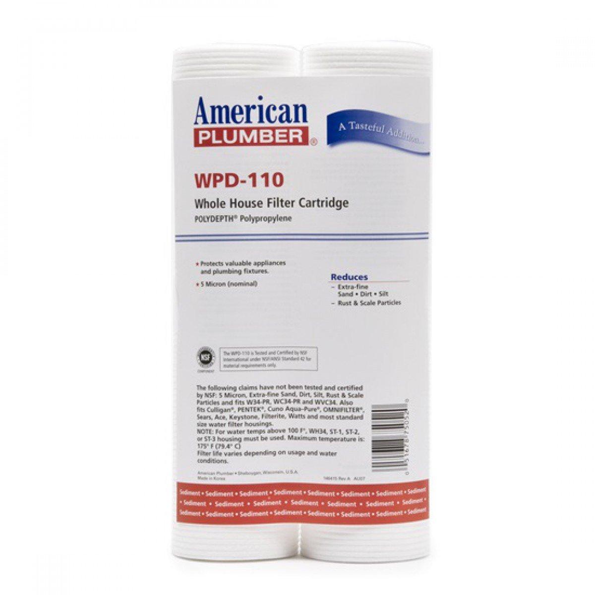 AP American Plumber WPD-110 Polydepth Polypropylene Whole House Filter Cartridge (6)