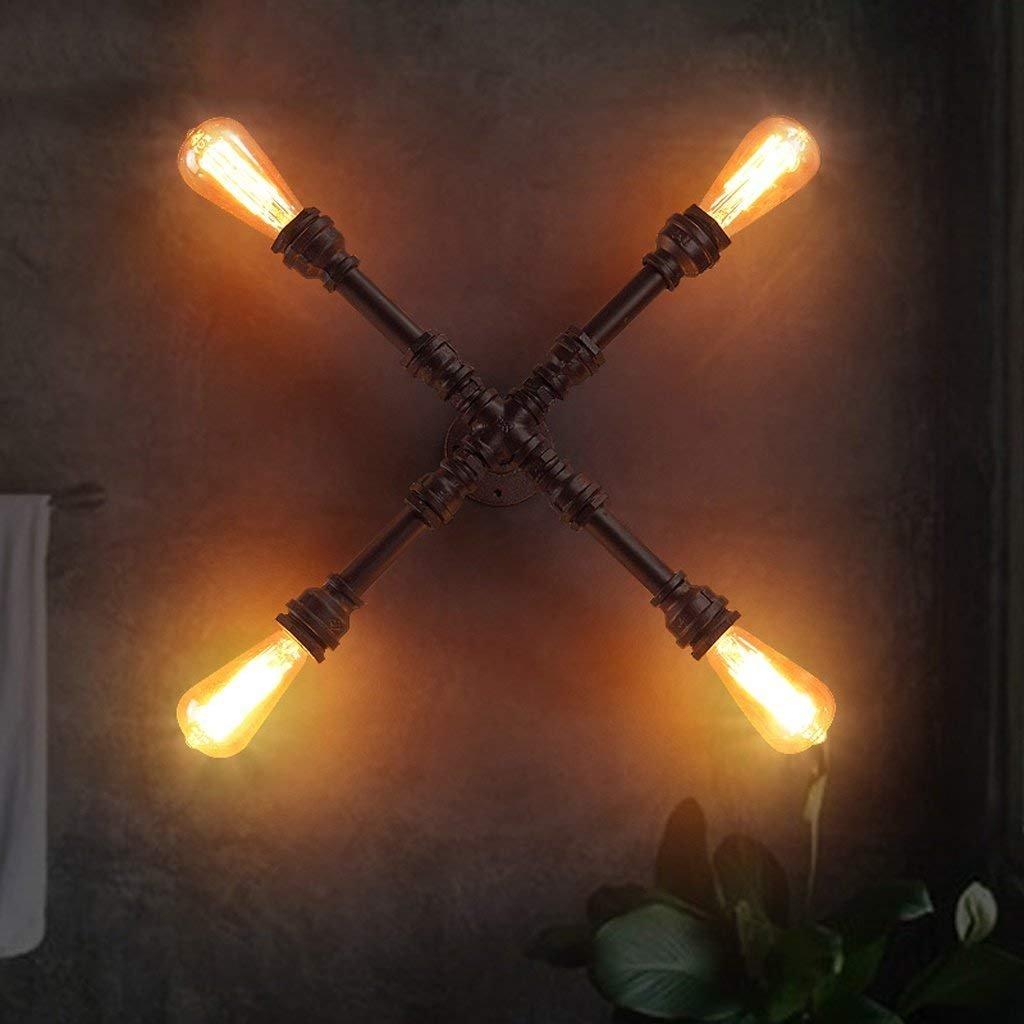 LQB Retro Industrie Wandleuchte kreative Wohnzimmer Wohnzimmer Wohnzimmer Schlafzimmer Wand Lampe Balkon Eisen Wasser Rohr Wandleuchte [Energieklasse a +++] B07G7YHMW7 Taschenlampen, Stirnlampen & Laternen Angemessener Preis 29145d