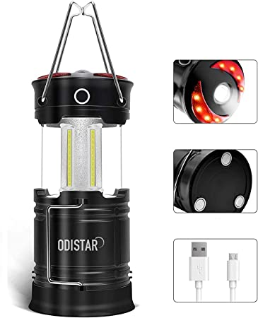 1000 Lumen LED Outdoor Lights LE Rechargeable Camping Lantern 4 Modes Emergenc