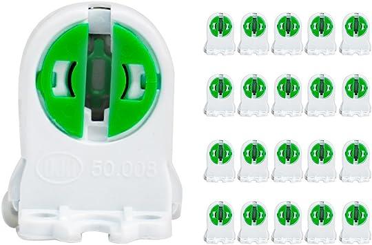 4-Pack Twist-Lock Fluorescent T5 Tube Lamp Holder Light Bulb Socket Lampholder