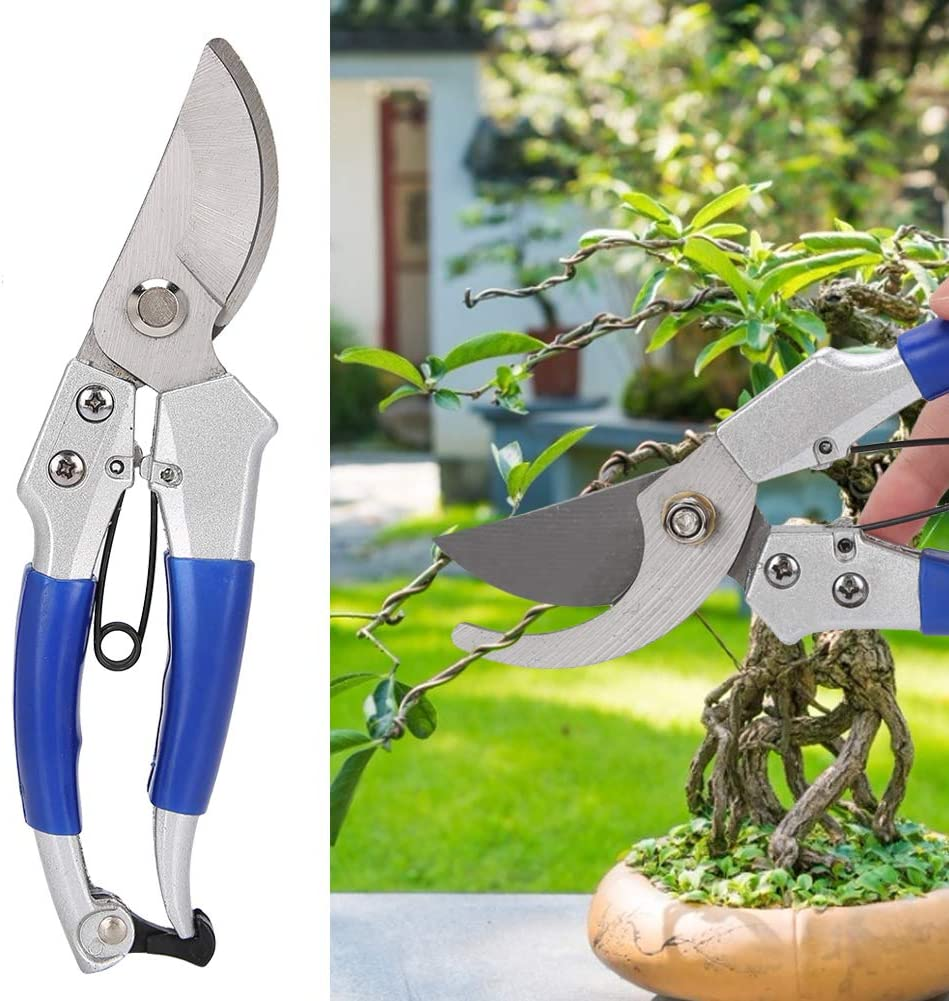 Garden Shear Manual Pruning Shear for Trees Roses Hedge Clipper Grass Clipper