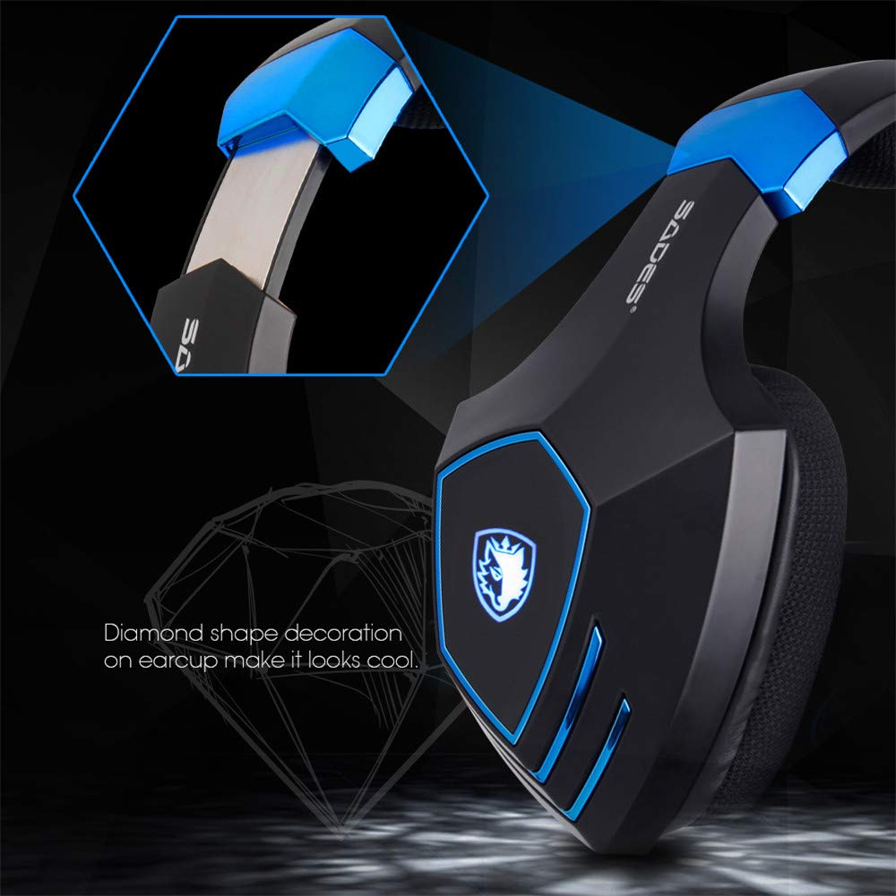 CITW Gaming Headset 7.1 Surround USB Vibration Gaming Headset Diadema Auriculares con Micrófono Luz LED para PC Juegos: Amazon.es: Deportes y aire libre