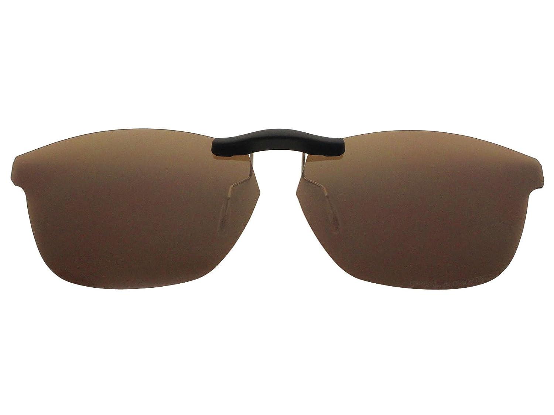 086167e7897 Custom Fit Polarized CLIP-ON Sunglasses For Oakley Taunt (52) OX1091 52X16  Brown - - Amazon.com