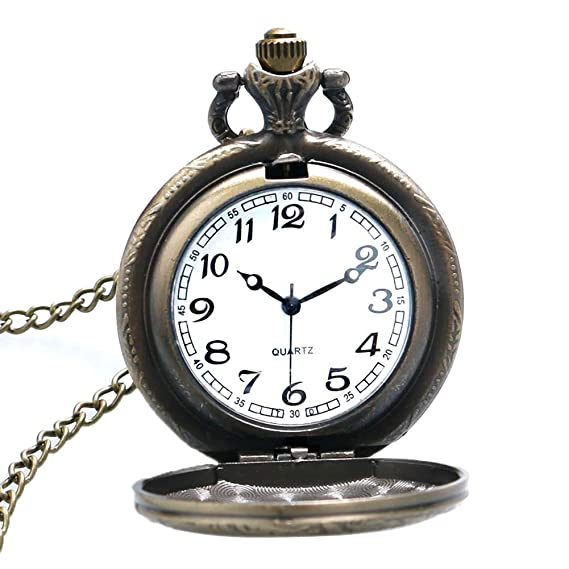 Amazon.com: Pocket Watch, Antique Medium Rabbit Design Bronze Quartz Pocket Watch, Gifts for Men - Ahmedy Pocket Watch: Watches
