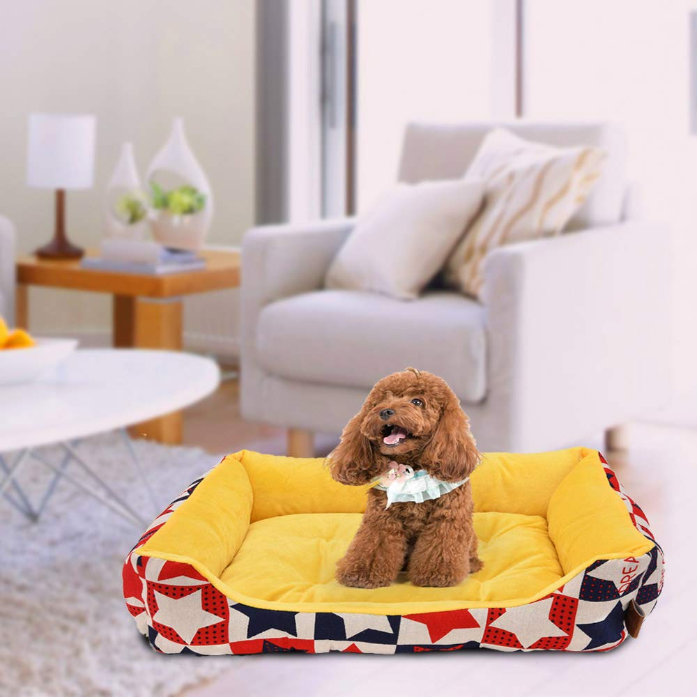 laamei Cama para Mascotas Suave y Acogedor Colchoneta Cama de Dormir para Perros Gatos Cachorro Sofa Sofa Mat Perrera Pad para Mascotas, 60cmx18cm: laamei: ...