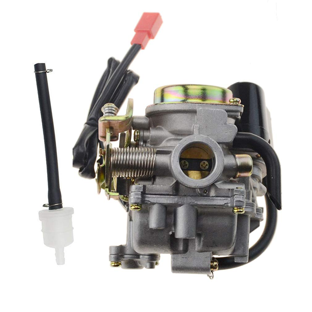 GOOFIT PD18 18mm Carburetor for 4 Stroke GY6 49cc 50cc Chinese Scooter 139QMB Moped for Taotao Kymco Scooter Jonway Baja Jmstar Lance NST Peace Banzer Barton Zipp Romet by GOOFIT