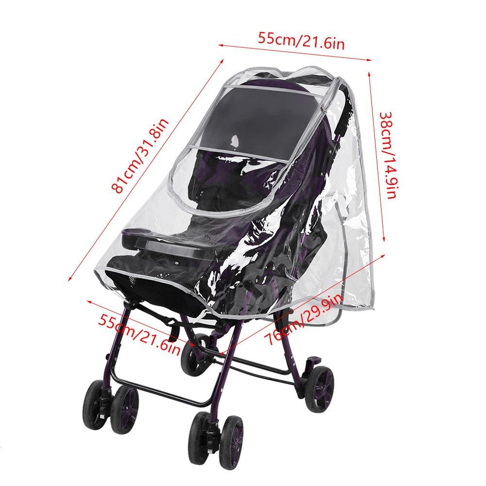Universal Waterproof Stroller Shield Weather Rain Cover Wind Baby Infant WE