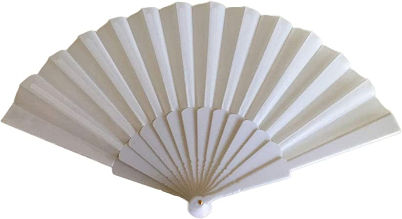 Tomixxx 1 Dozen 12 Pieces Chinese Traditional Easten Style Spanish Floral Folding Hand Fans Gift Size 9 Single Color