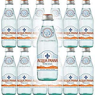 Acqua Panna Toscana Spring Water, 8.8oz Glass Bottle (Pack of 12, Total of 105.6 Oz)