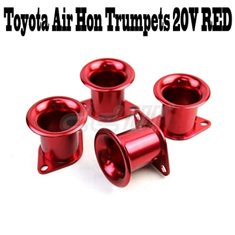 Amazon.com: 4 pcs Toyota 4AGE Intake Manifold Air Hon Trumpets 20v Silvertop Throttle Red: Automotive