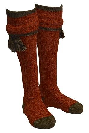 Kyle - Calcetines para hombre, con cintas decorativas passenden - adecuado para la caza - Tallas S a L: Amazon.es: Ropa y accesorios