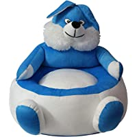 PRACHI TOYS Stool Soft Cute Animal Shape Toy Chair, Blue/White