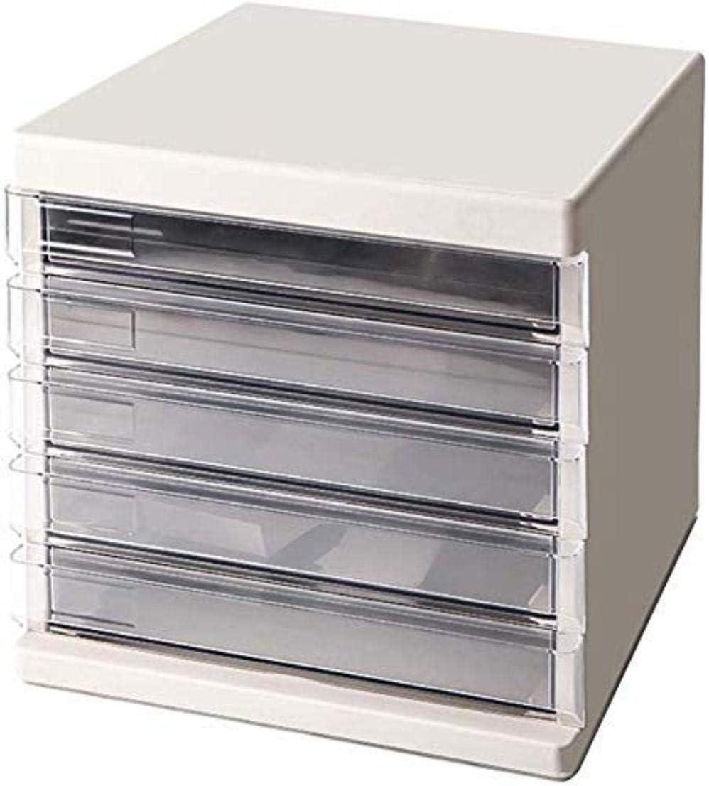 Archivadores con 5 cajones transparentes, tamaño A4, de plástico, para almacenar datos, 26,8 x 36 x 25,5 cm: Amazon.es: Hogar