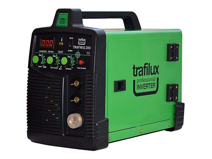 Trafilux Máquina para soldar Mig/Mag Inverter Función MMA Transistores IGBT para la soldadura en continuo y por puntos: Amazon.es: Deportes y aire libre