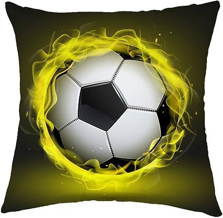 Rosy Nubes diseño de balón de fútbol manta funda de almohada ...