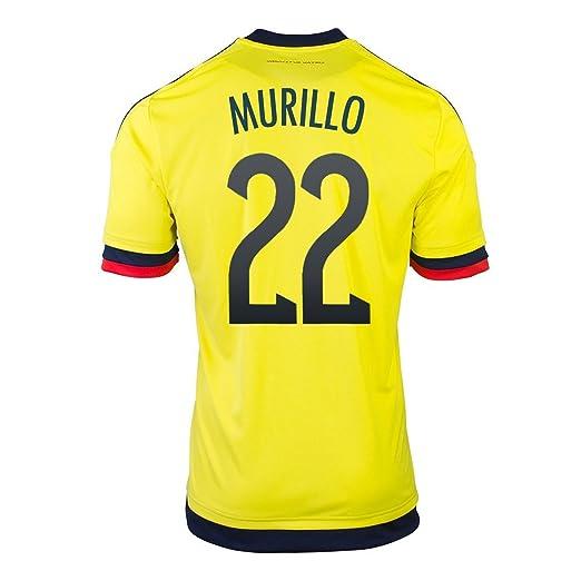 Adidas Murillo #22 Colombia Camiseta 1ra de Futbol 2015 (Nombre Auténtico y Número Del Jugador) (Tamaño De Los EE.UU) (S): Amazon.es: Deportes y aire libre