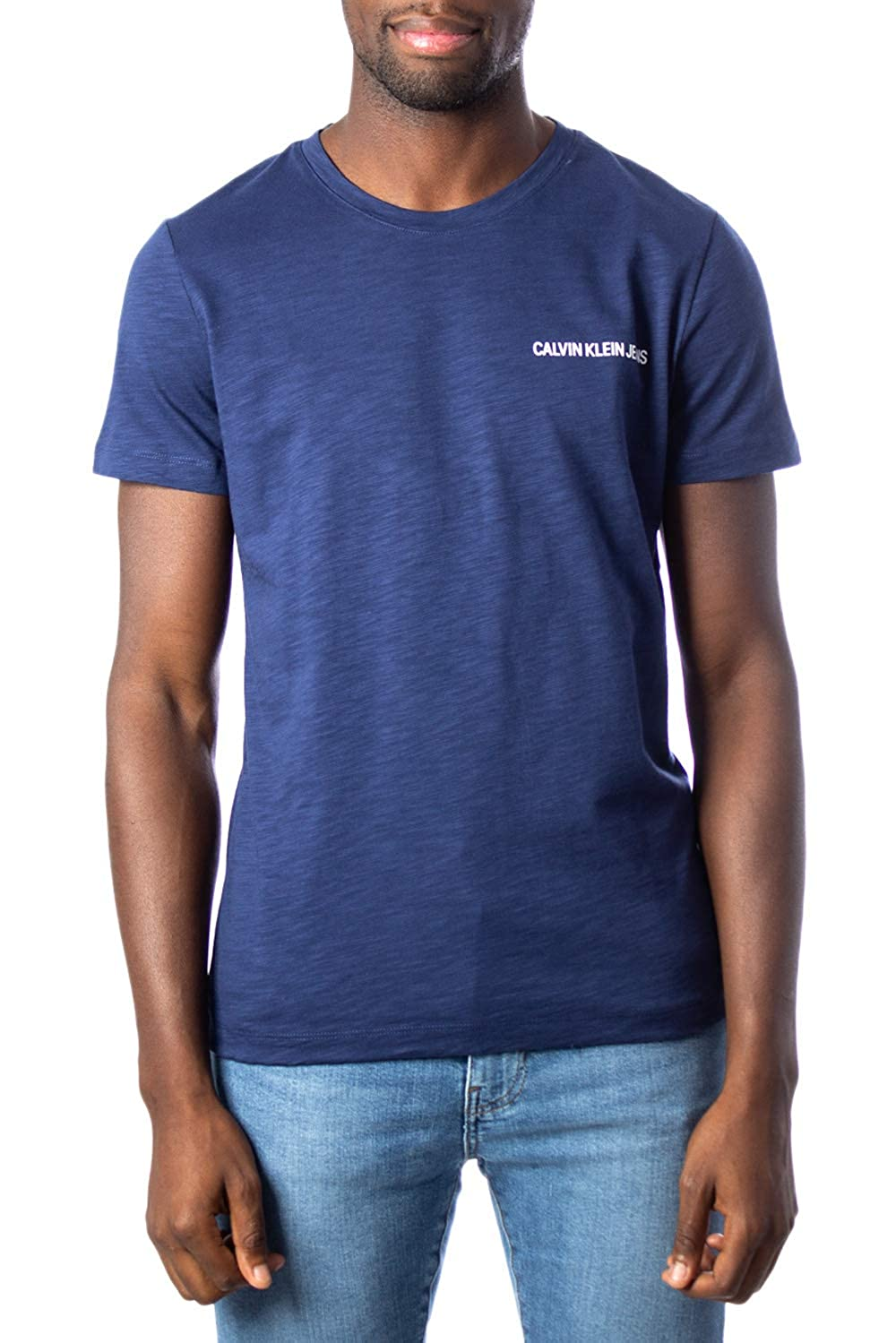 Calvin Klein T Shirt Bianca Slim Con Logo | Bandito Store