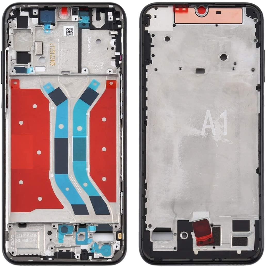 Color : Black P Smart S Spare Parts LIUJUN Phone Accessiories Middle Frame Bezel Plate for Huawei Y8p