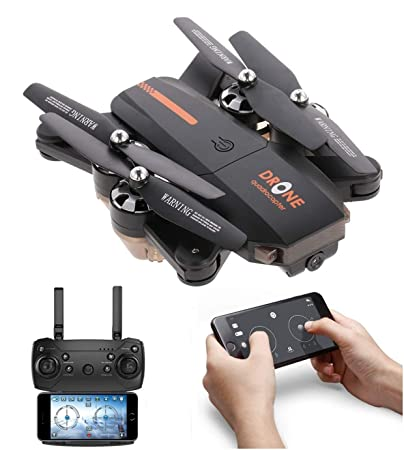 Amitasha New 480p Foldable Wi-Fi Camera Drone with Altitude Hold and Headless Mode
