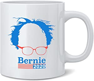 Poster Foundry Bernie Sanders 2020 Presidential Election Hair and Glasses Campaign Ceramic Coffee Mug Tea Cup Fun Novelty Gift 12 oz