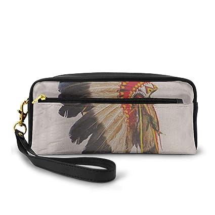 Indio nativo americano Jefe Tocado Traje de la mascota Pluma ...