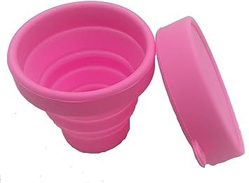 Mix Flower Esterilizador De Copa Menstrual Caja De Almacenamiento Esterilizadora con Tapa Silicona Taza Plegable 170ml Grado Médico Reutilizable Azul Verde Rosa -30°C - 220°C (Rosa): Amazon.es: Salud y cuidado personal