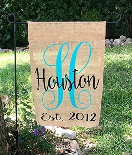 Garden New Yard Banner Sign - Personalized Burlap Garden Flag