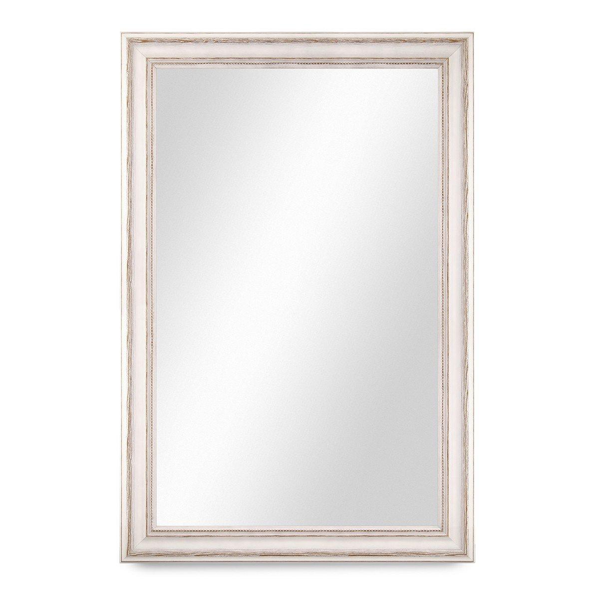 PHOTOLINI Wand-Spiegel 50x60 cm im Massivholz-Rahmen Landhaus-Stil ...