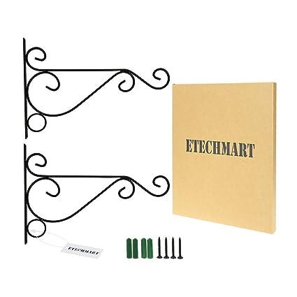Amazon.com: EtechMart gancho de metal para pared para colgar ...
