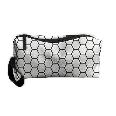 SDTTYHNM Travel Bag Cosmetic Bags Brush Pouch Subway Tile Portable Makeup Bag Zipper Wallet Hangbag Pen Organizer Carry Case Wristlet Holder
