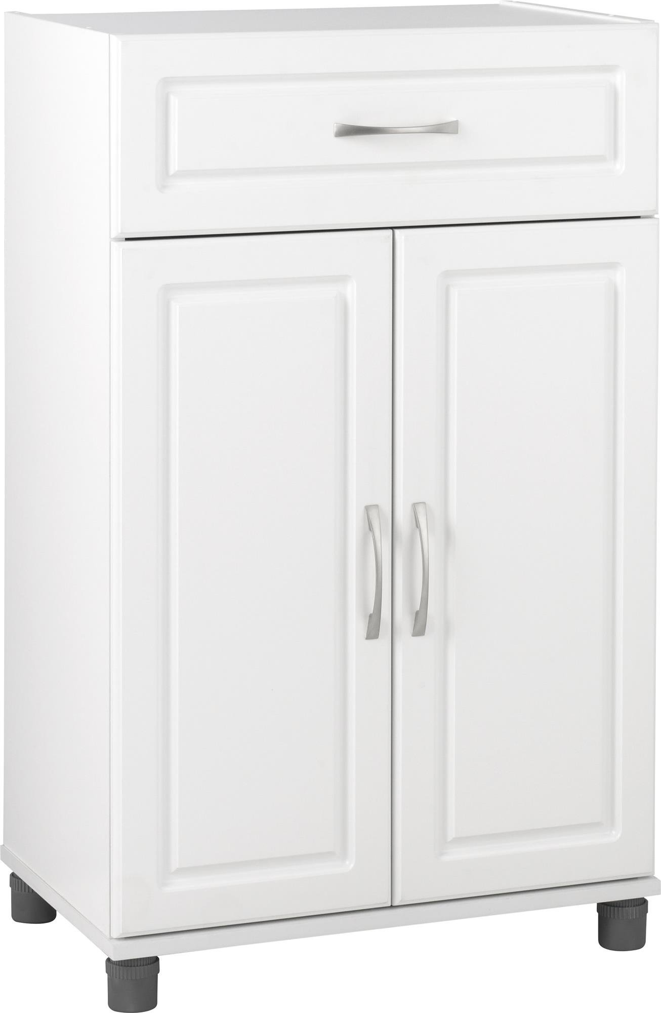 Ameriwood Kendall 1 Drawer/2 Door Base Storage Cabinet 24'' White by SystemBuild