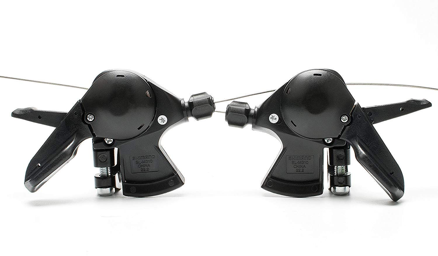 lundeng OEM ShimanoAcera SL-M310 Rapid Fire Shifter 3x7 Speed Trigger Shift Levers Set with Inner Shift Cables Black