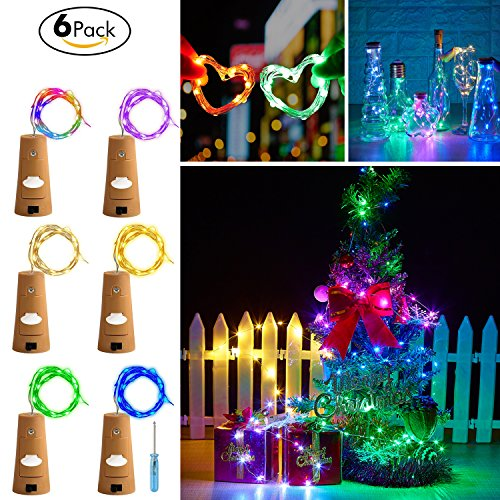 Wine Cork lights, Bottles Cork Lights,Led Cork Lights,Wine Bottle Lights Battery Powered ,Wine Bottle String Lights for Party Wedding and Christmas