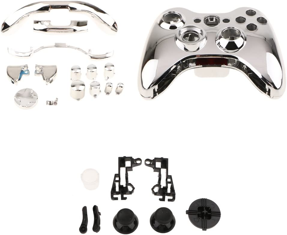 Amazon.com: Jili Online Chrome Wireless Controller Replacement Mod ...